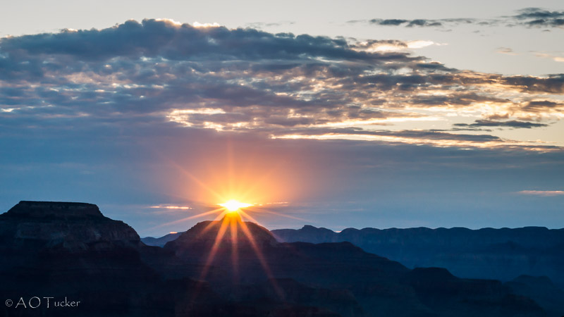 Sun Rising Over Vishnu - Grand Canyon Post