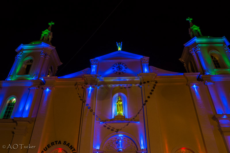 Esteli Cathedral At Night - Gringo In Nicaragua Post