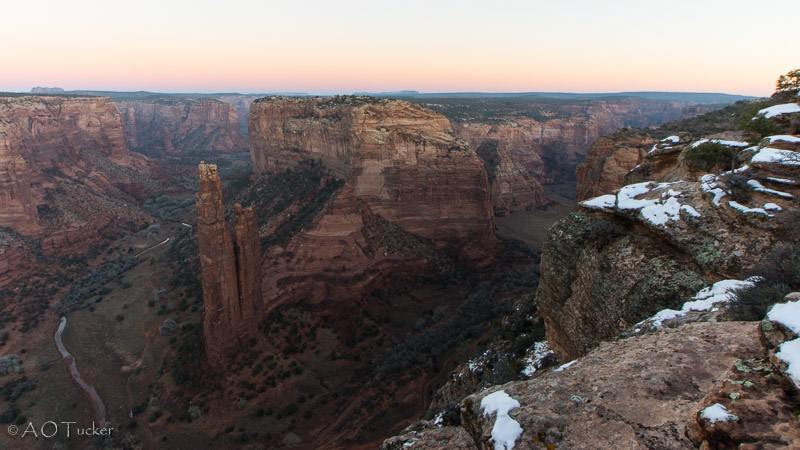 Last Light Spider Rock - Canyon De Chelly post