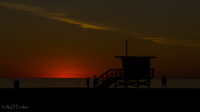 Lifeguard Shack Silhouette