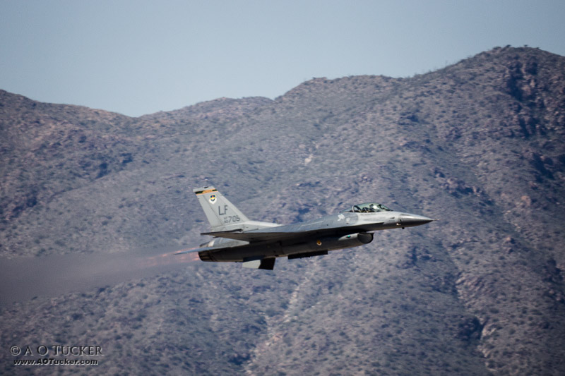 F-16 With White Tanks
