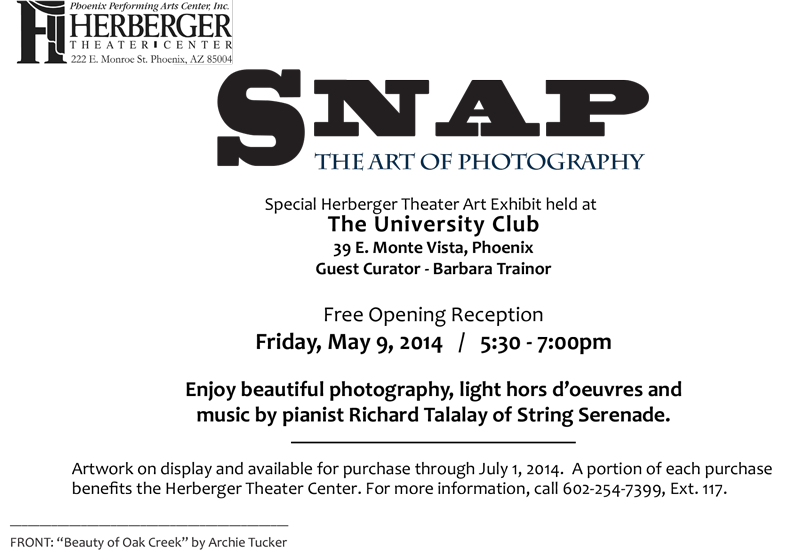 Snap - The Art Of Photography Reception Invitation - Page 2