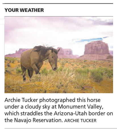 Desert Traveler - Arizona Republic Weather Photo post