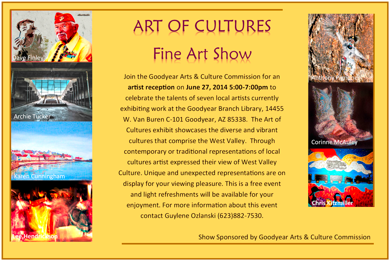Goodyear Art Of Cultures Invite - Artist Reception post