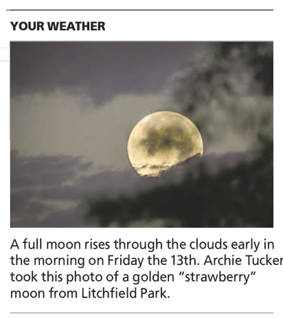 Full Strawberry Moon - Arizona Republic Weather Photo post