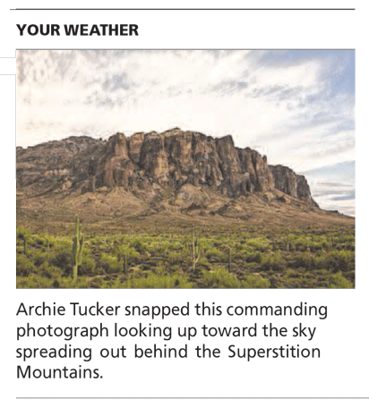 Waiting For Thunder Moon - Arizona Republic Weather Photo 08/08/2014 post