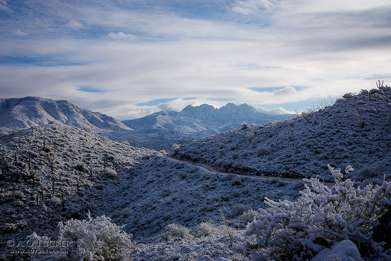 Four Peaks With White Desert - Arizona Republic Weather Photo 01/18/2015 - Four Peaks post
