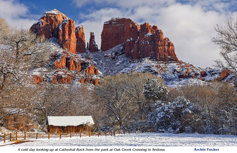 Cathedral Rock White Blanket - Arizona Vacations Magazine Sedona AZ