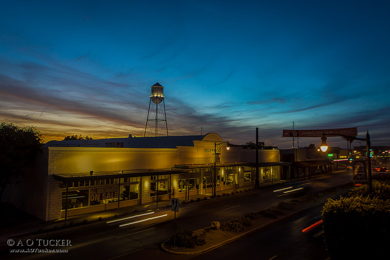Gilbert Water Tower Sunset - AZ Republic Weather Photo 06/19/2015 Downtown Gilbert post