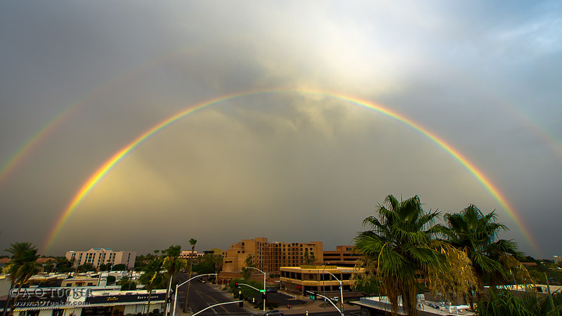 Double Rainbow Over Downtown Scottsdale - Arizona Republic Weather Photo 06/11/2015 Rainbow post