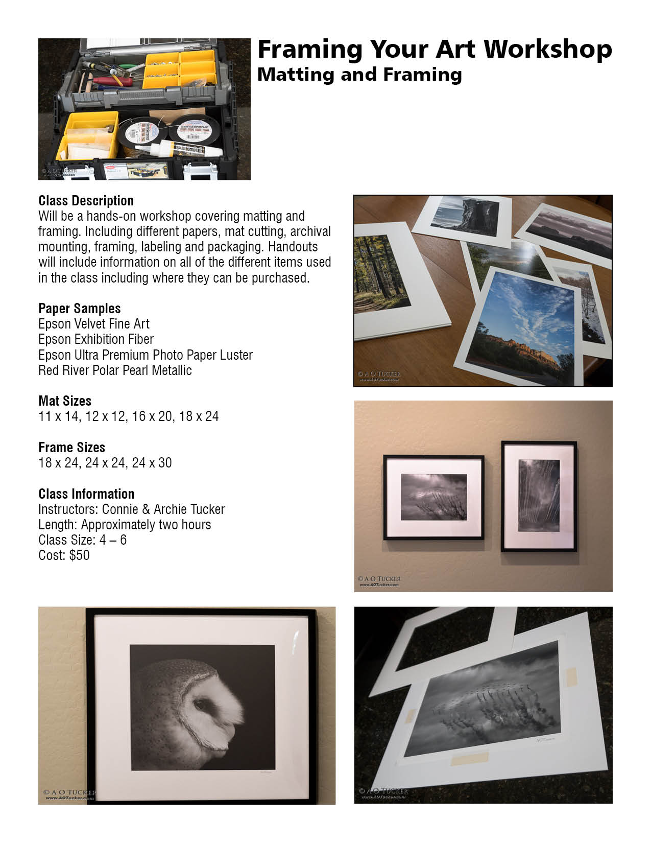 FramingWorkshopMattingFramingFlyer